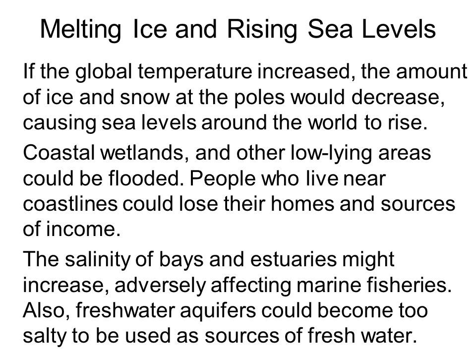 Melting Ice and Rising Sea Levels