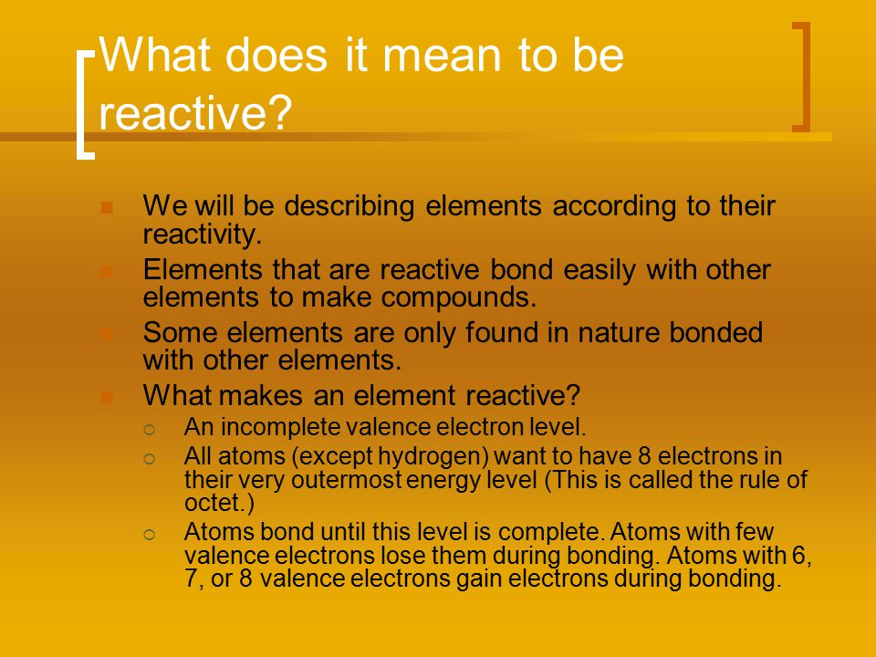What does it mean to be reactive