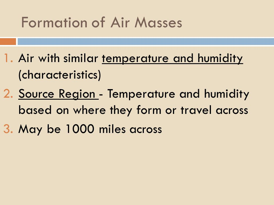 Formation of Air Masses
