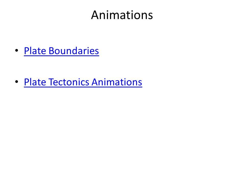 Animations Plate Boundaries Plate Tectonics Animations