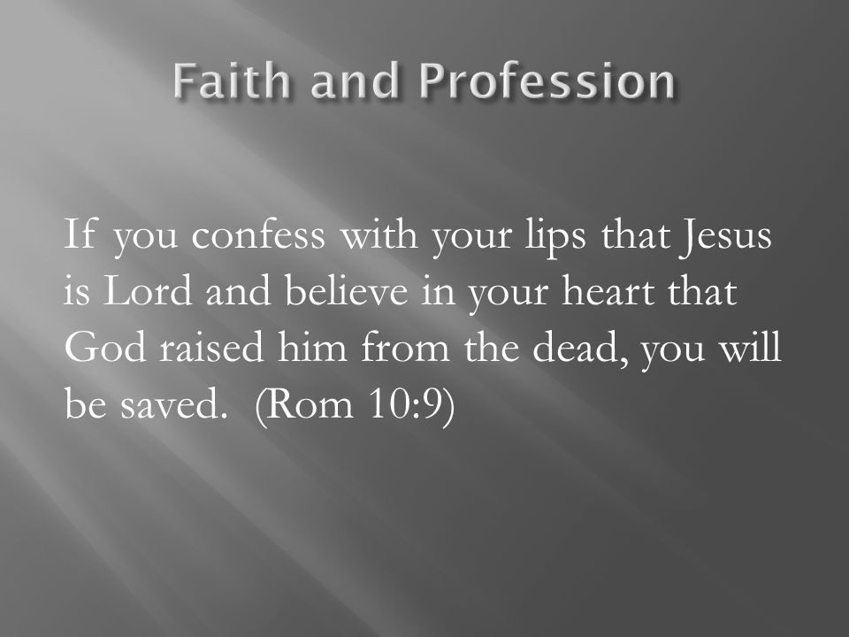 Faith and Profession