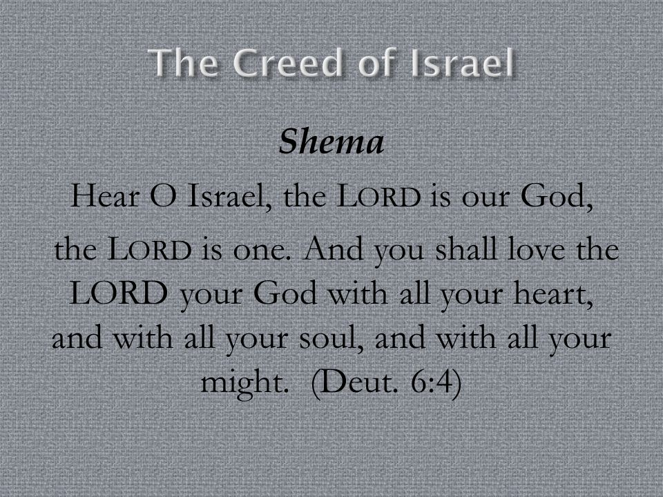 The Creed of Israel