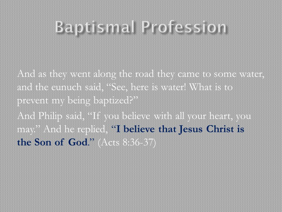 Baptismal Profession