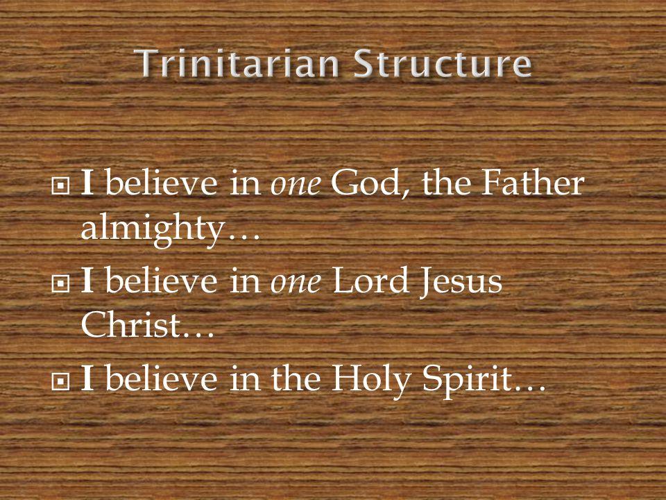 Trinitarian Structure