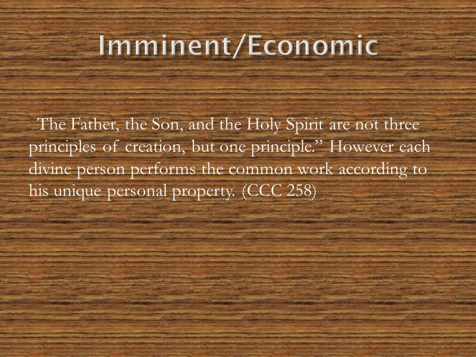 Imminent/Economic