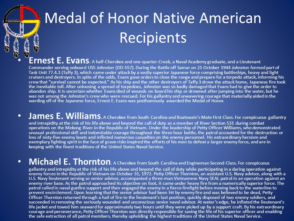 Medal of Honor Native American Recipients