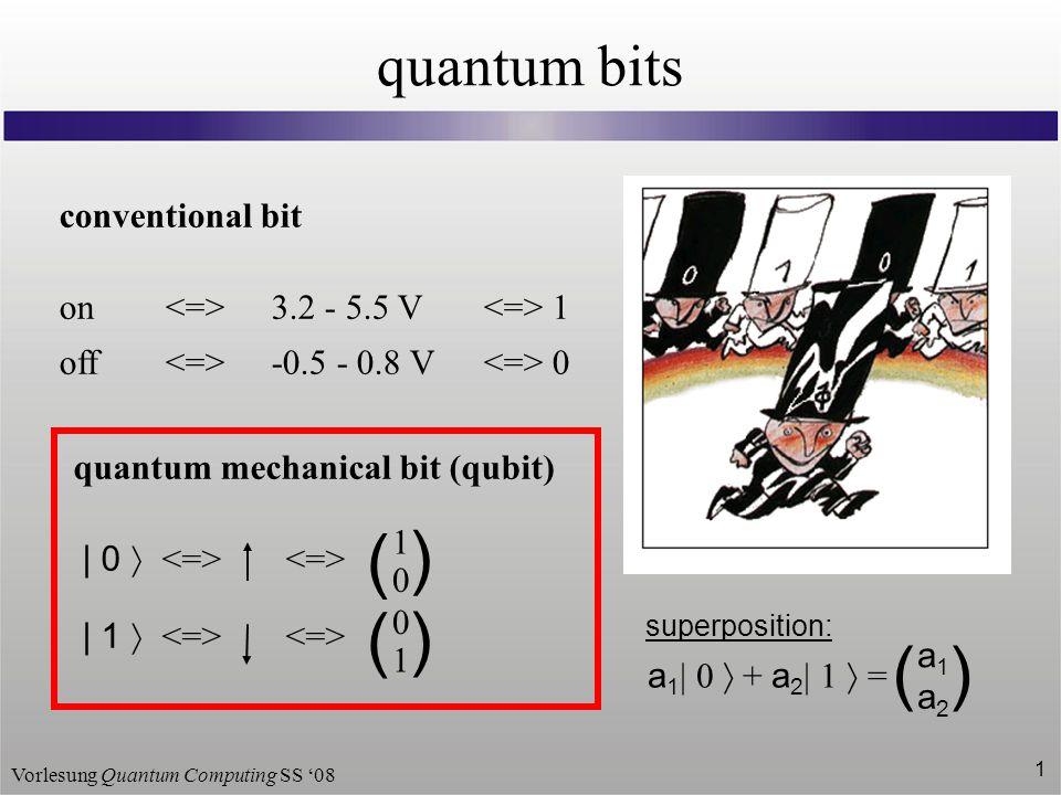 ( ( ) quantum bits conventional bit