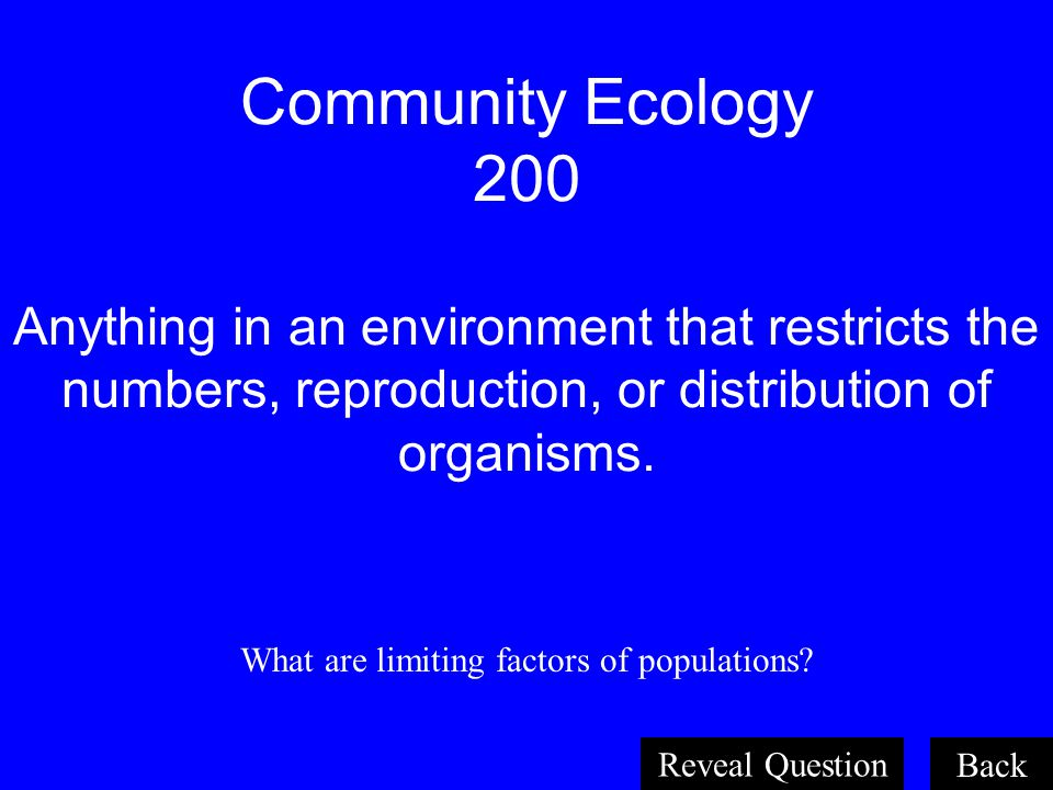What are limiting factors of populations