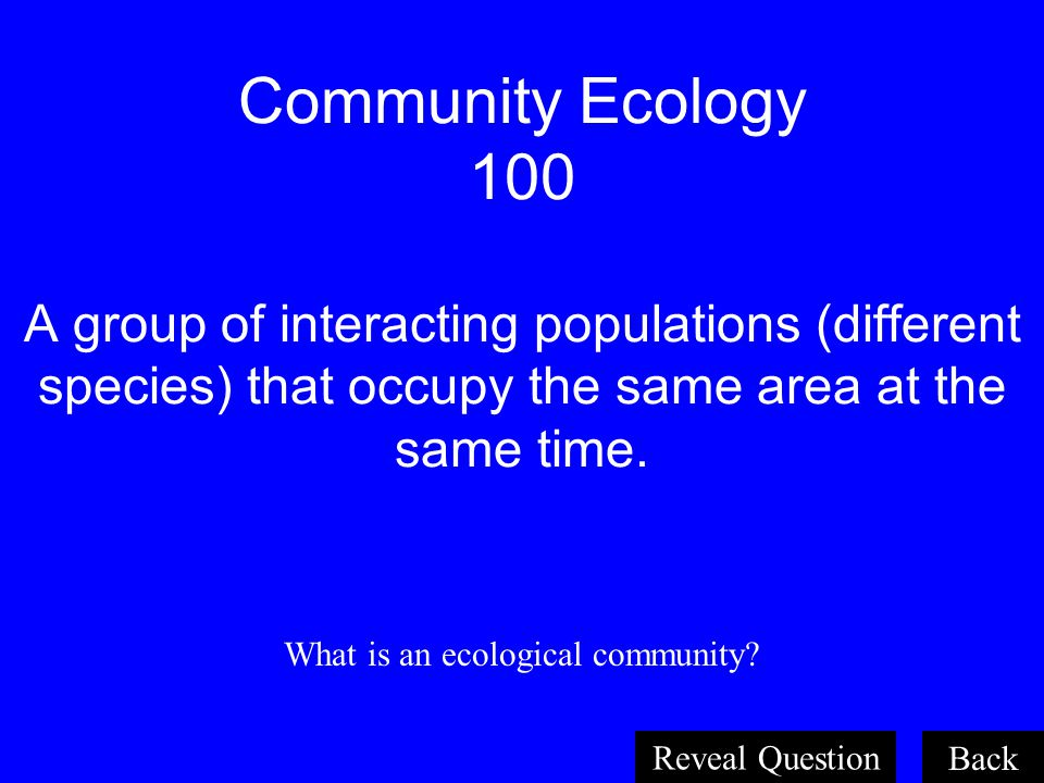 What is an ecological community