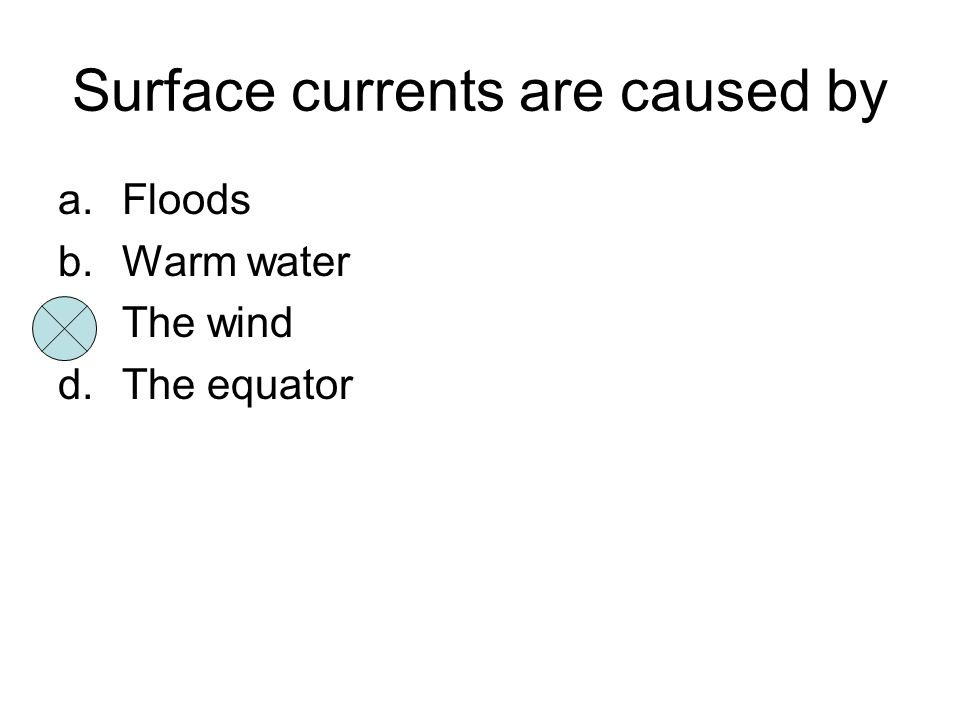 Surface currents are caused by
