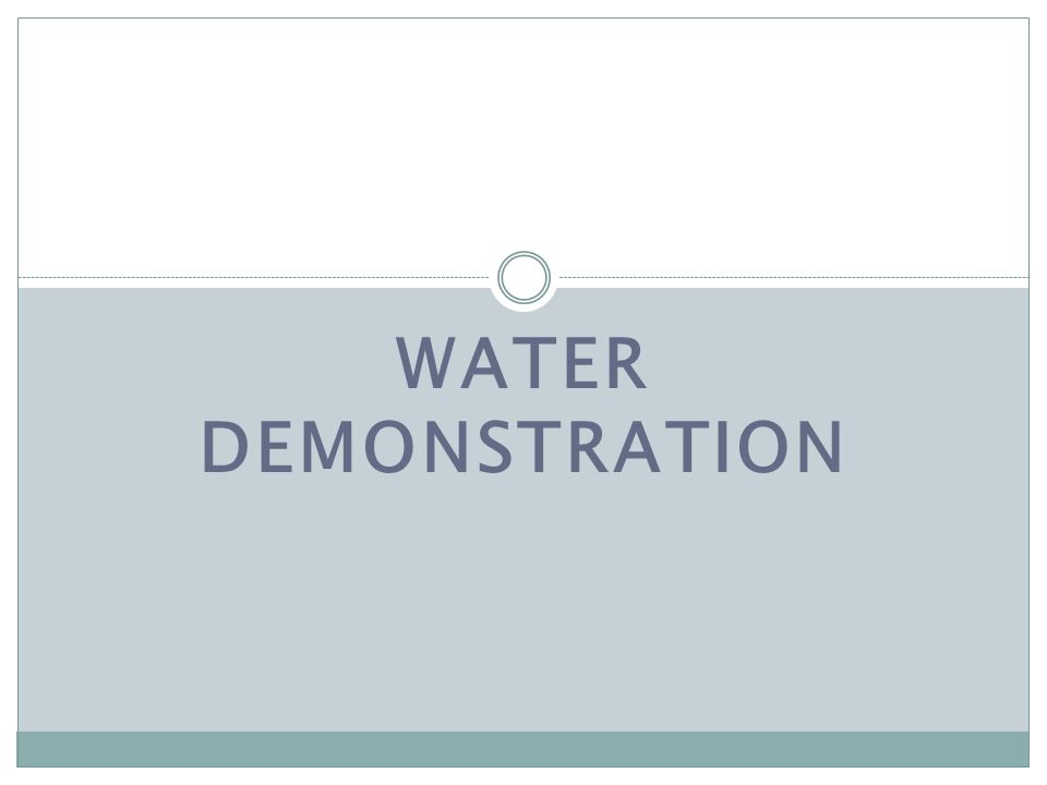 WATER Demonstration