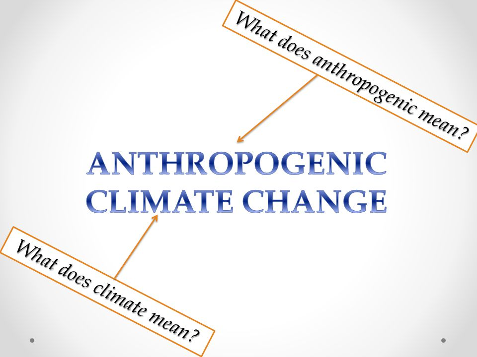 What does anthropogenic mean