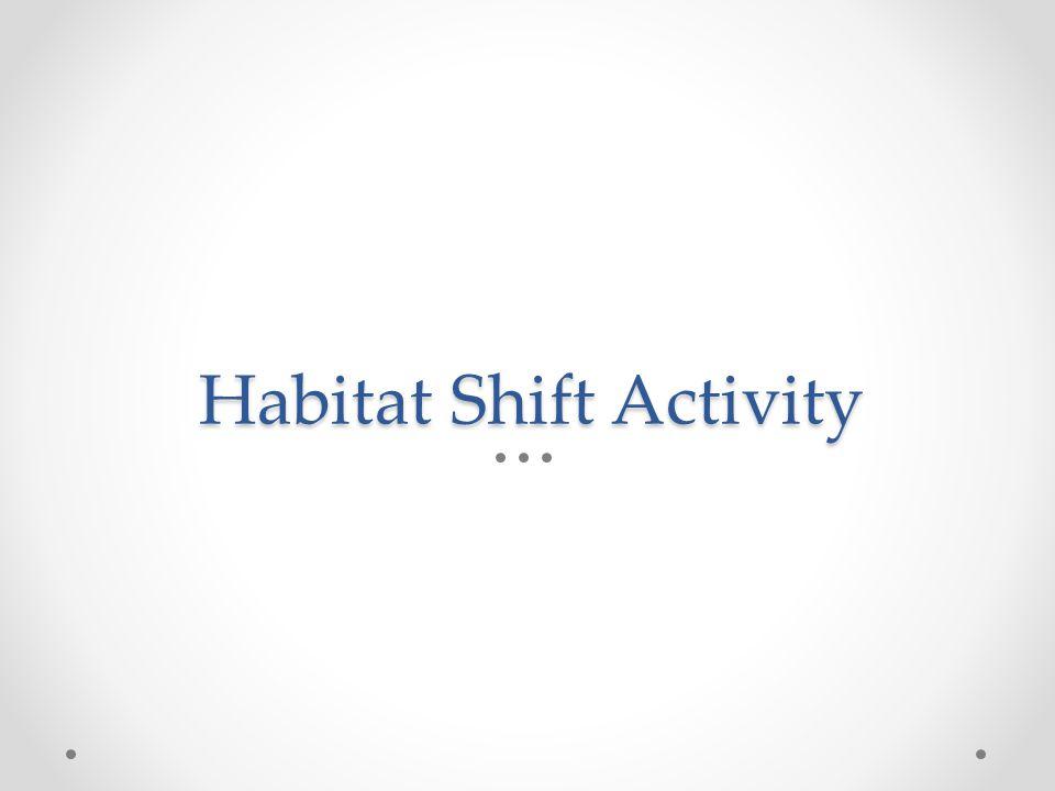 Habitat Shift Activity