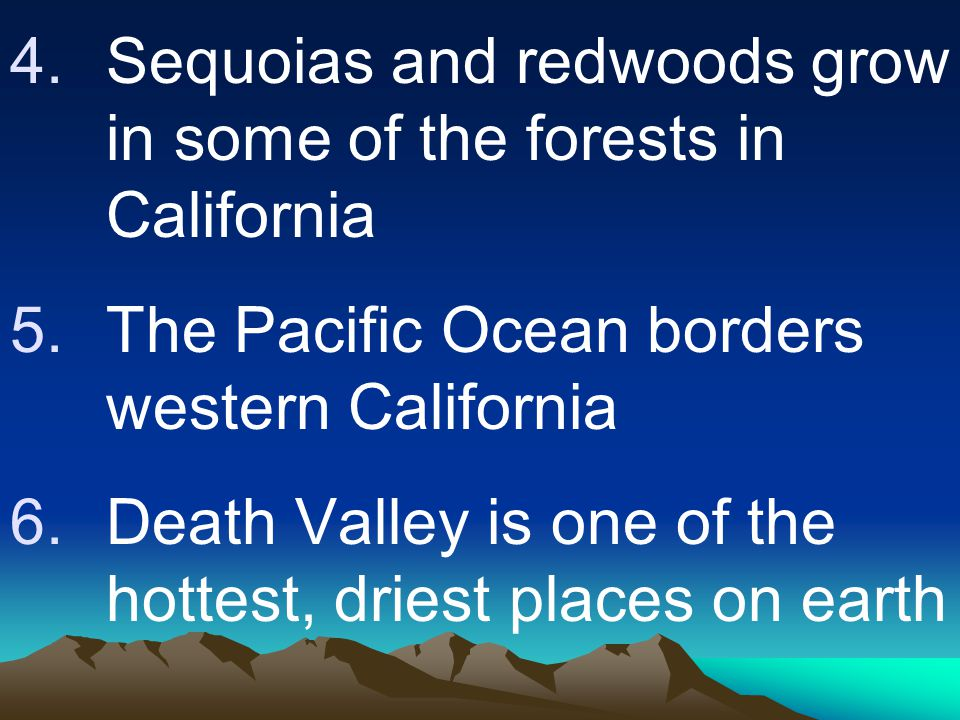 Sequoias and redwoods grow in some of the forests in California