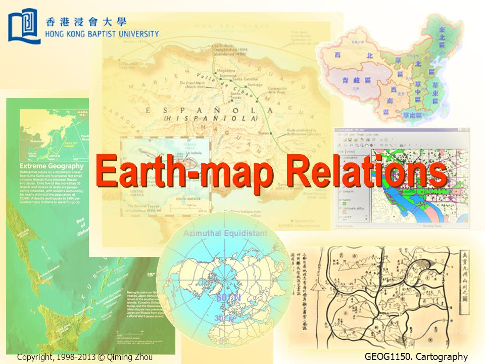 Earth-map Relations