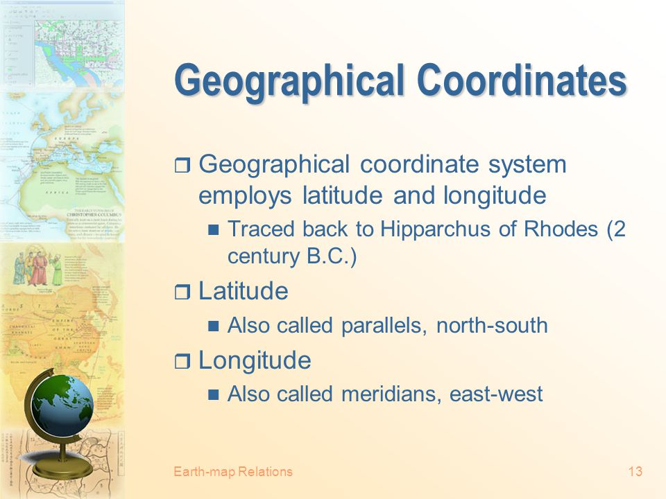 Geographical Coordinates