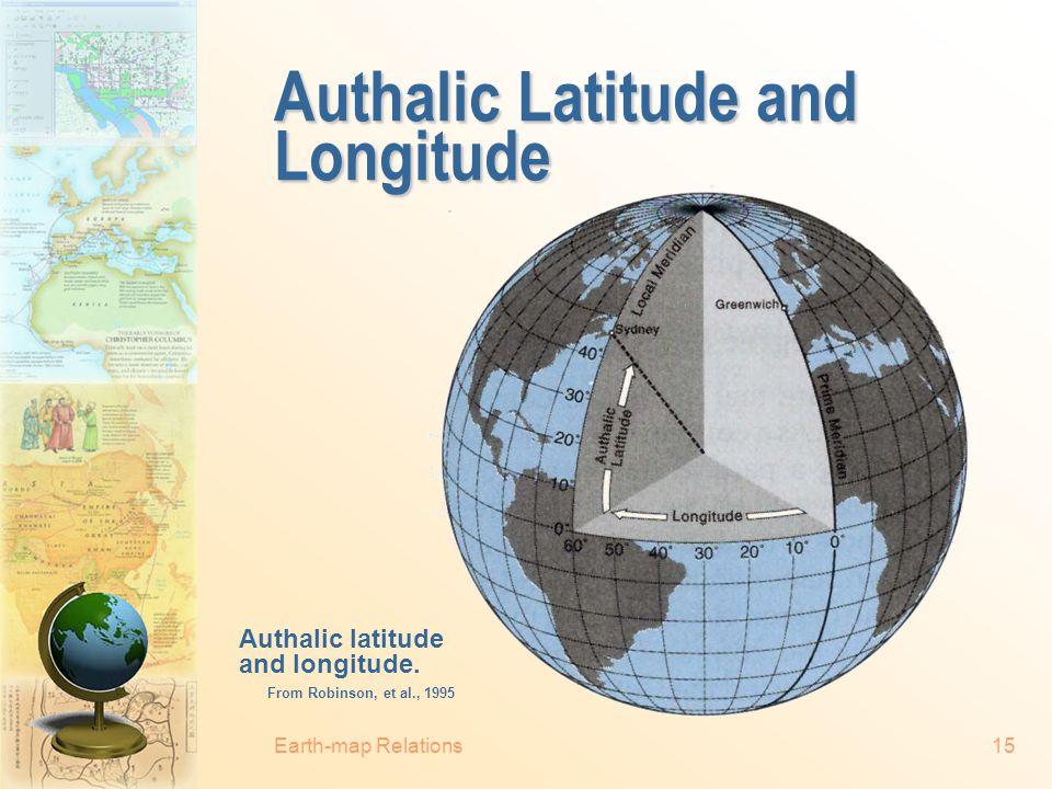 Authalic Latitude and Longitude