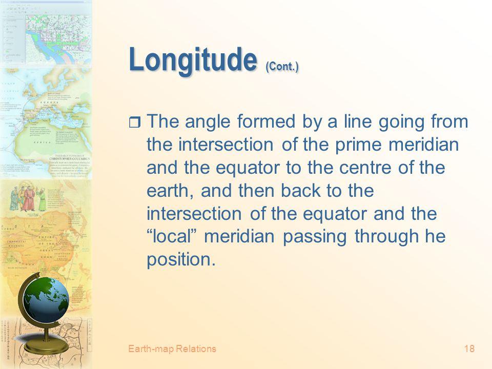 Longitude (Cont.)