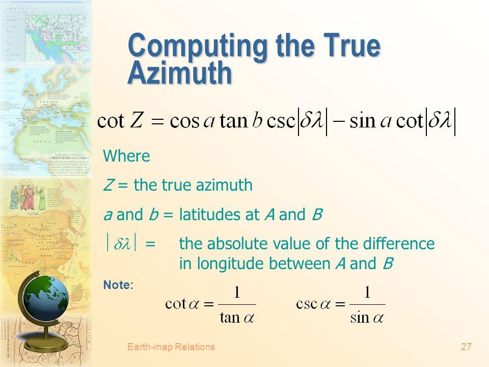 Computing the True Azimuth