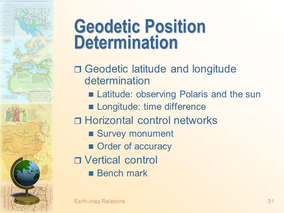 Geodetic Position Determination