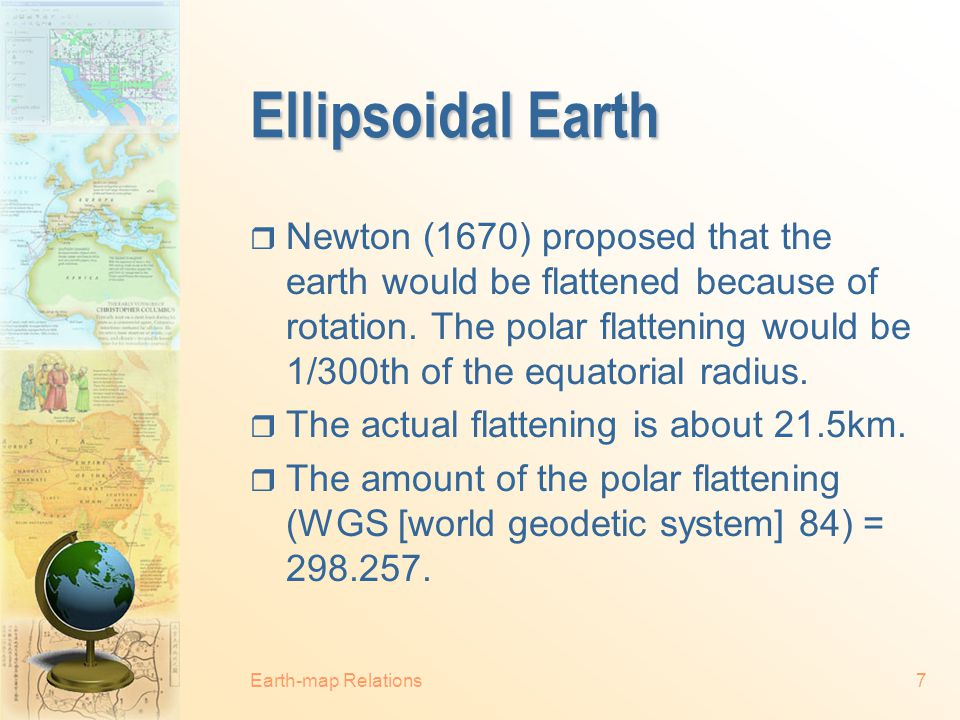Ellipsoidal Earth