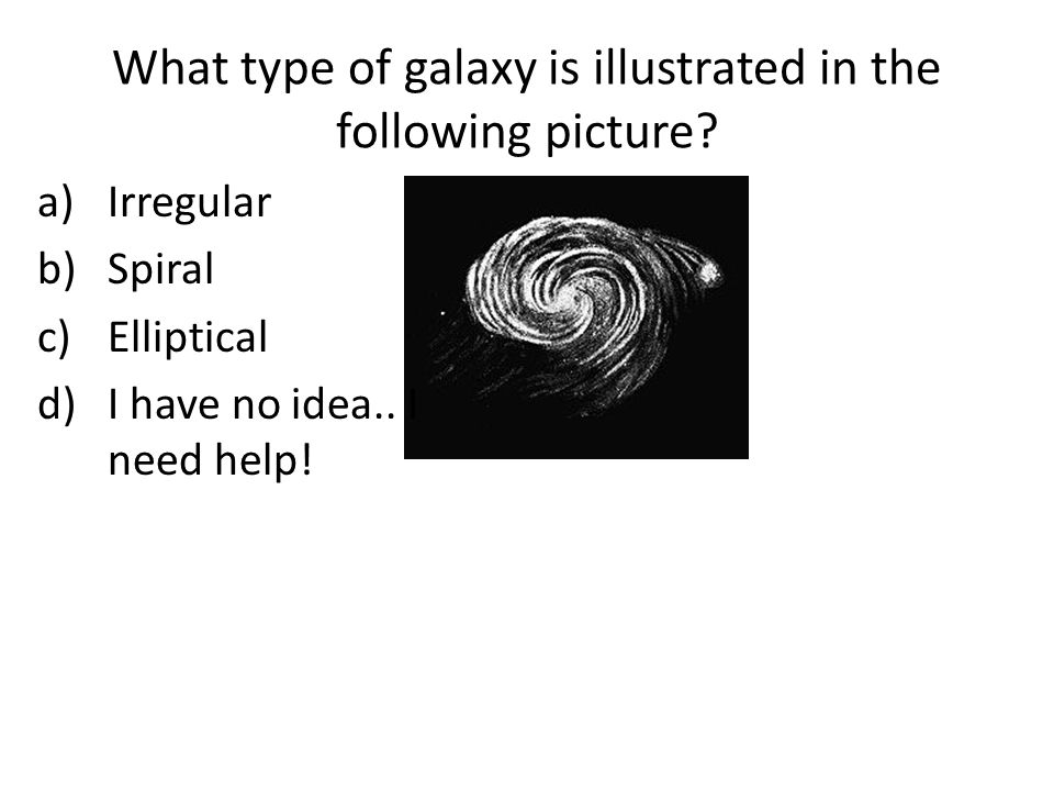 What type of galaxy is illustrated in the following picture