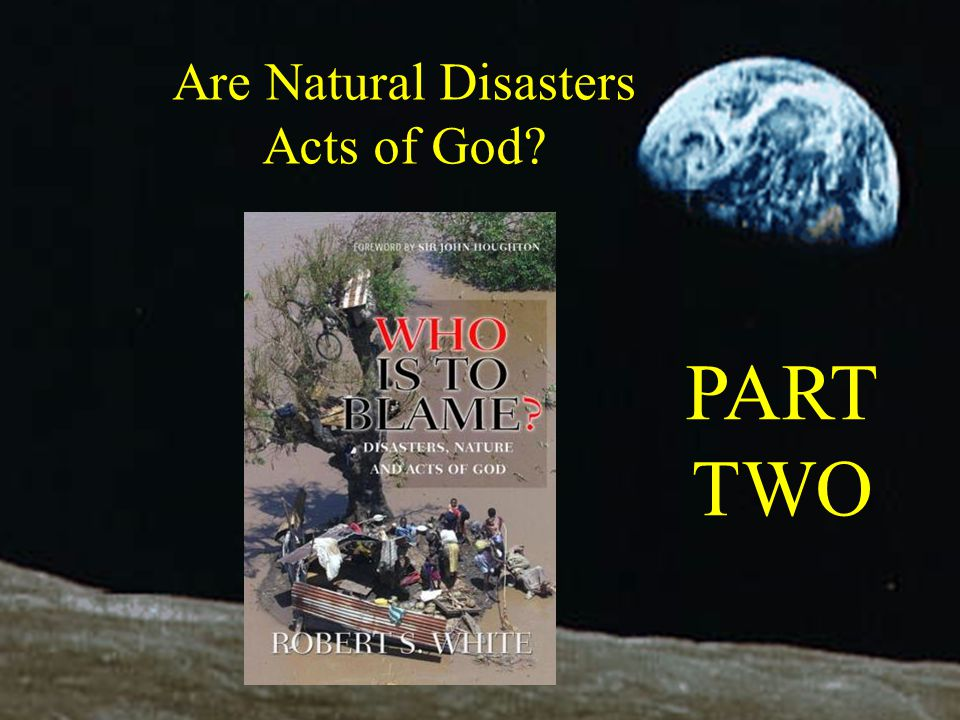 Are Natural Disasters Acts of God PART TWO Apollo 8 image 1968