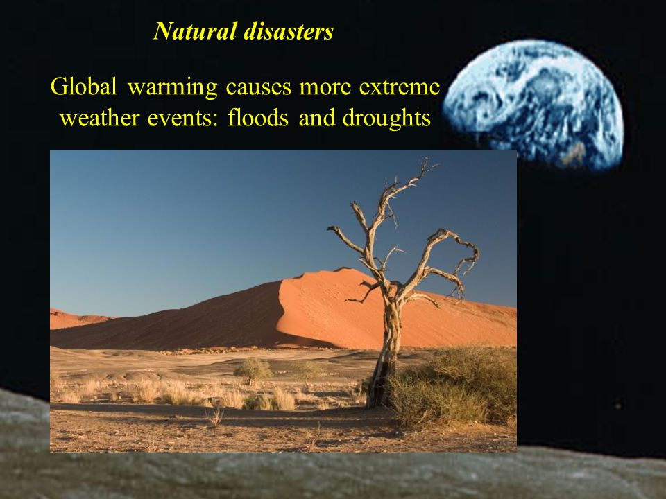 Global warming causes more extreme weather events: floods and droughts