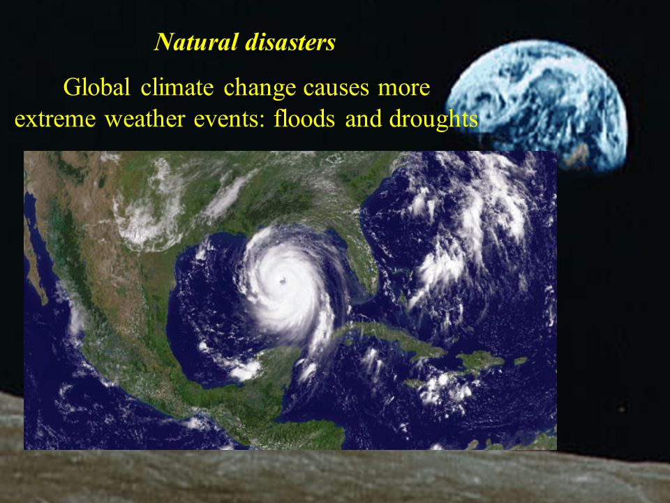 Global climate change causes more
