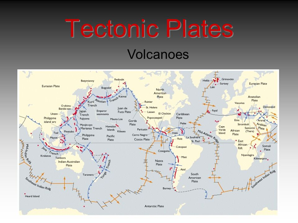 Tectonic Plates Volcanoes