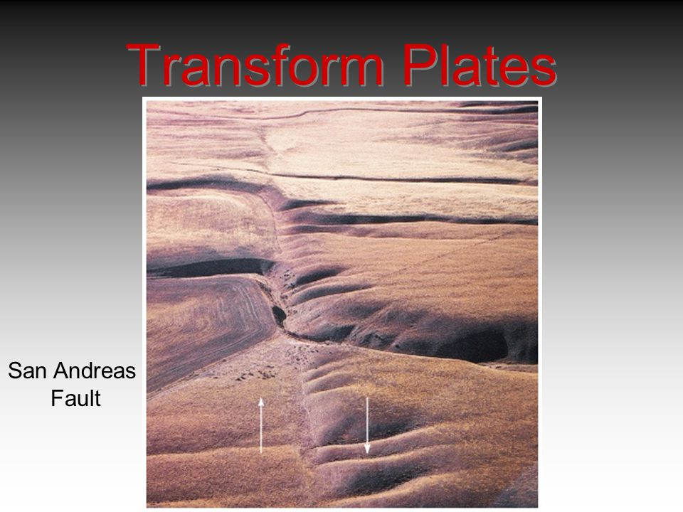Transform Plates San Andreas Fault