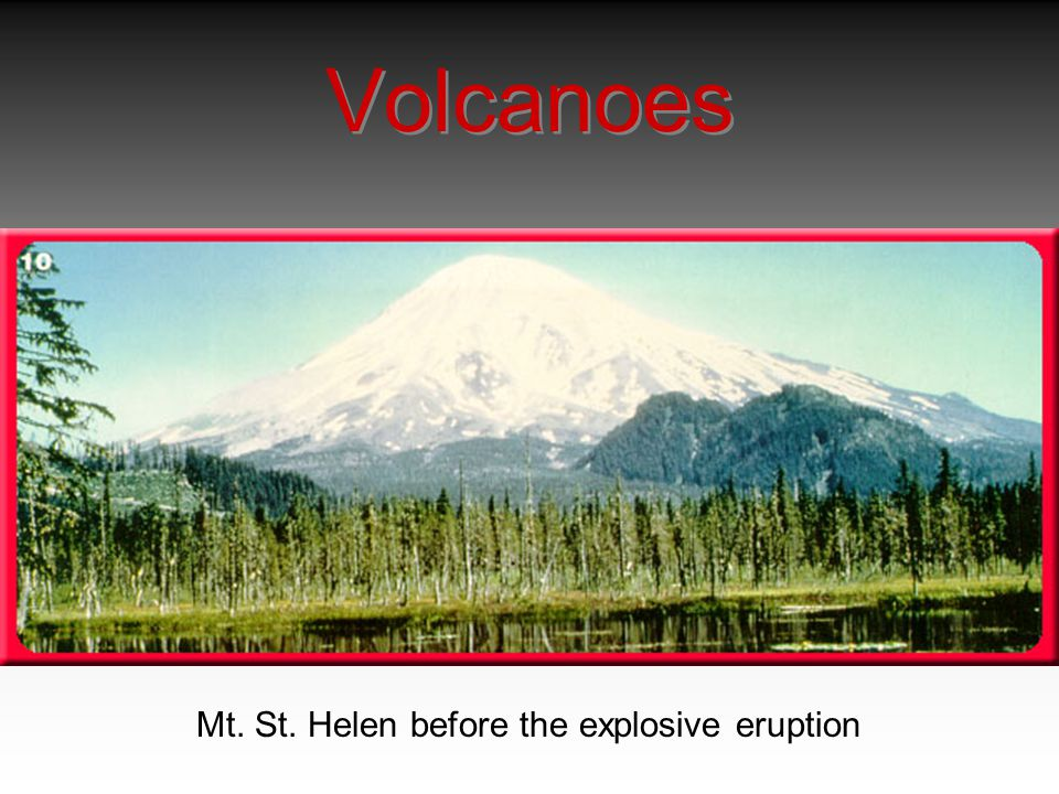 Volcanoes Mt. St. Helen before the explosive eruption