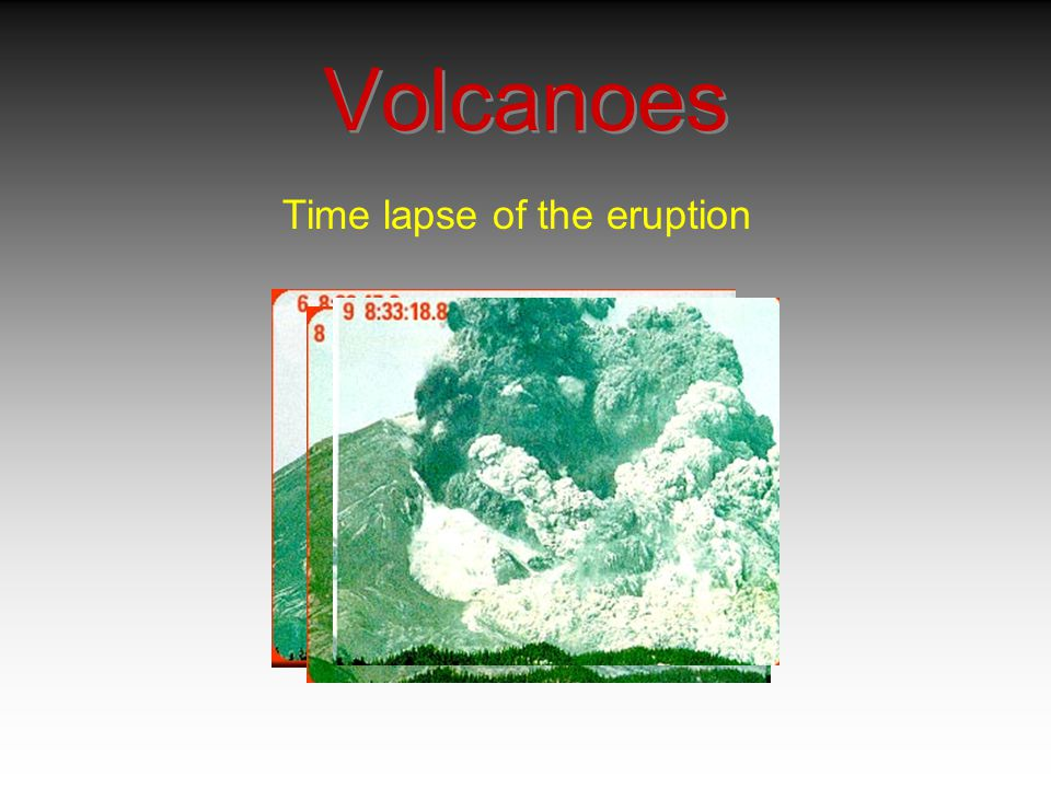 Volcanoes Time lapse of the eruption