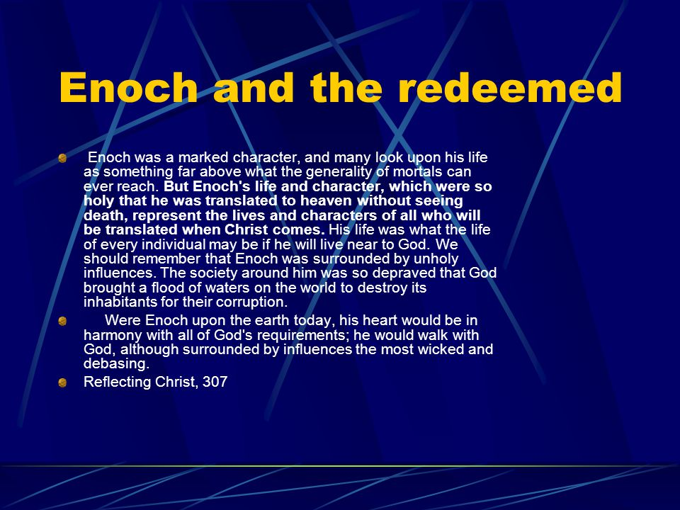 Enoch and the redeemed
