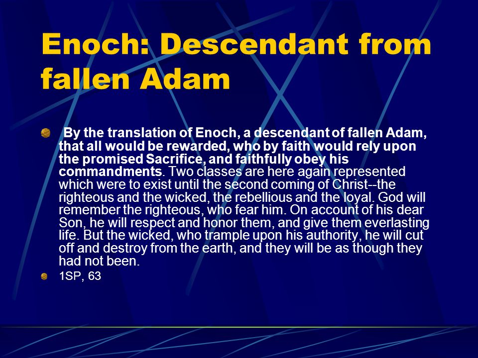 Enoch: Descendant from fallen Adam