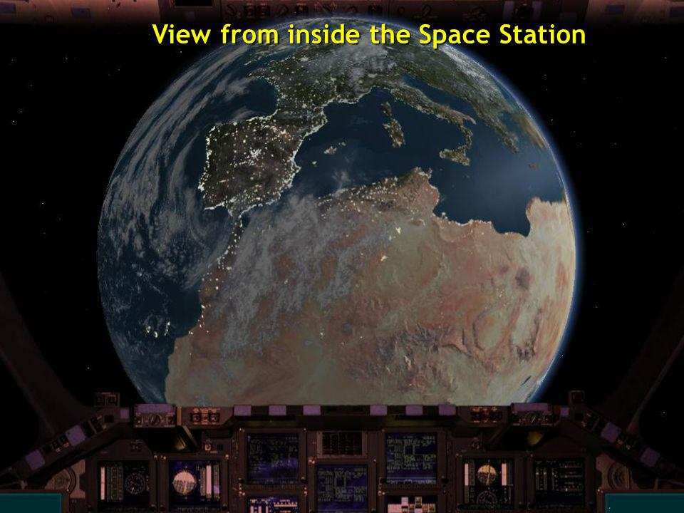 View from inside the Space Station