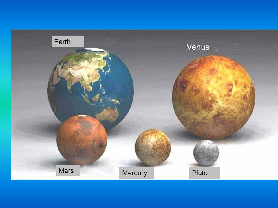 Earth Mars Mercury Pluto