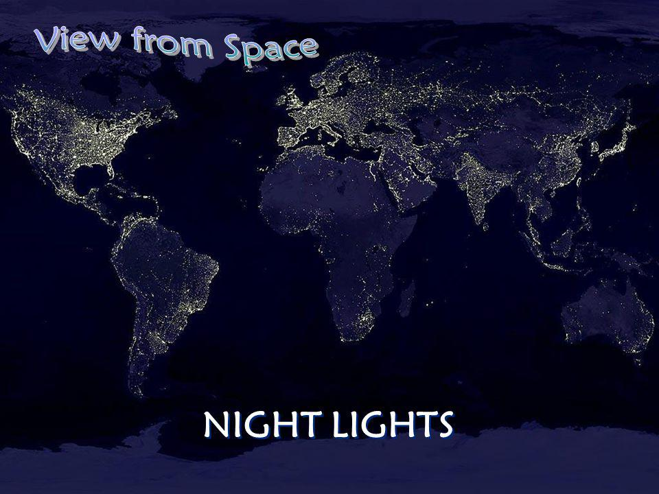 View from Space NIGHT LIGHTS