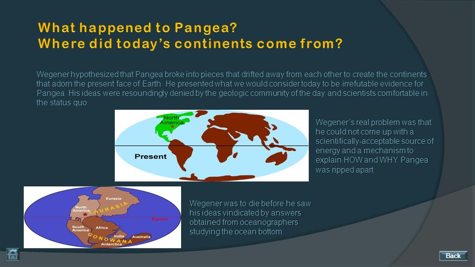 What happened to Pangea Where did today's continents come from