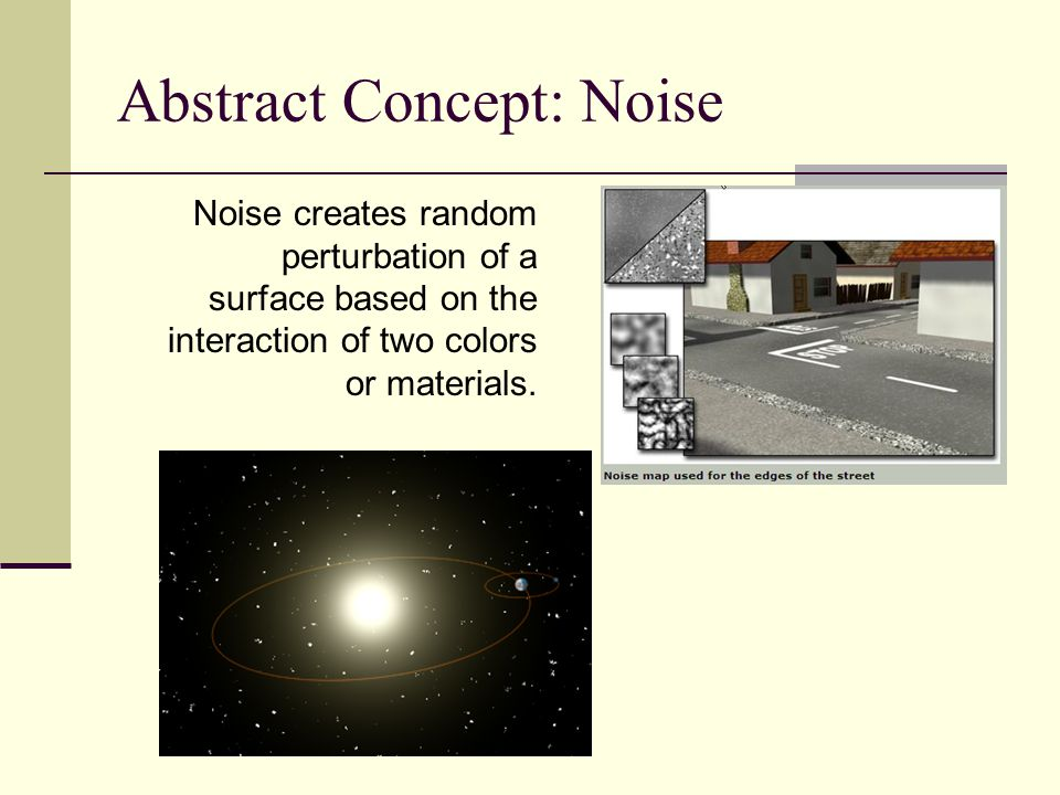 Abstract Concept: Noise