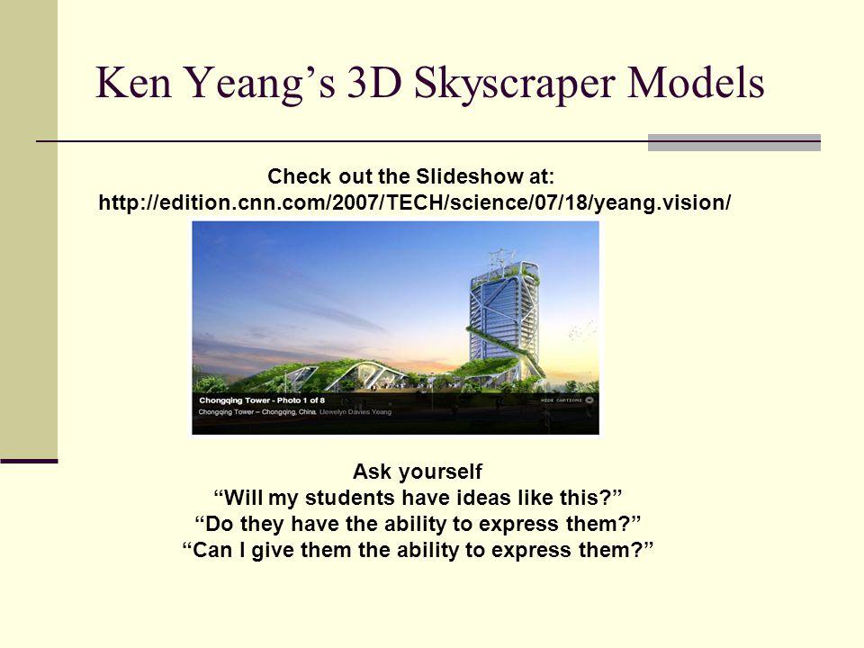 Ken Yeang's 3D Skyscraper Models