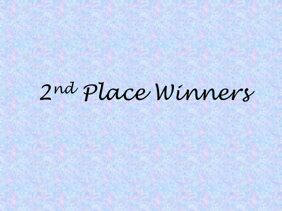 2nd Place Winners