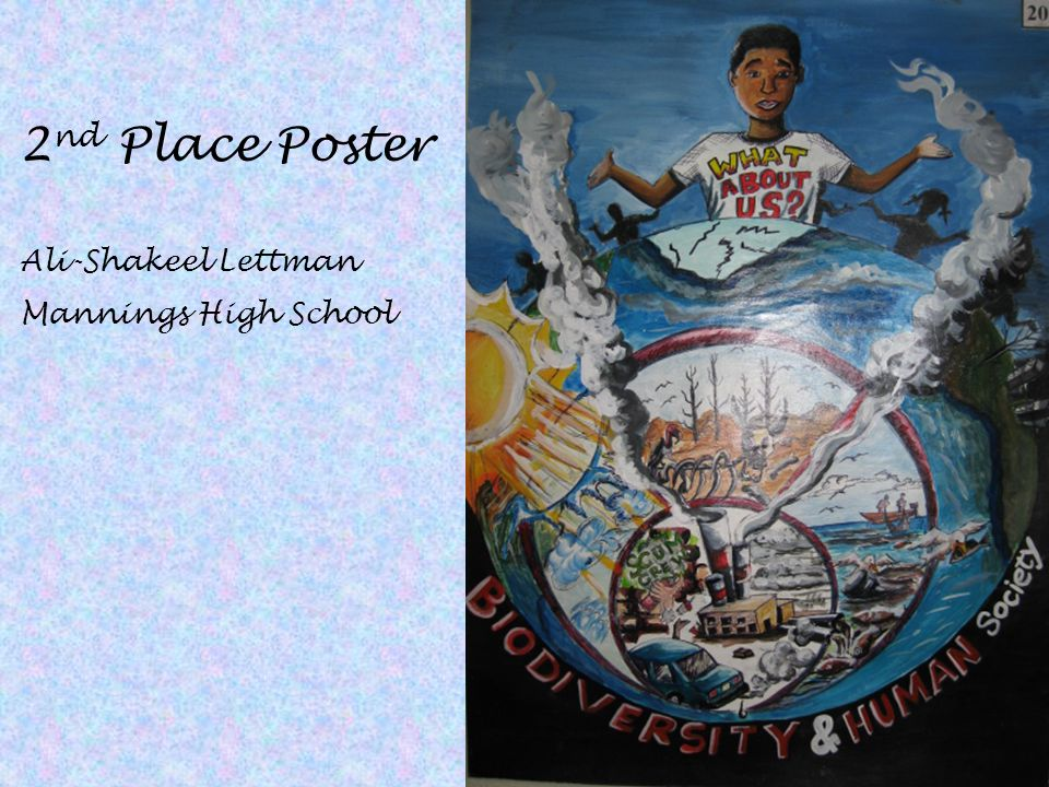 2nd Place Poster Ali-Shakeel Lettman Mannings High School