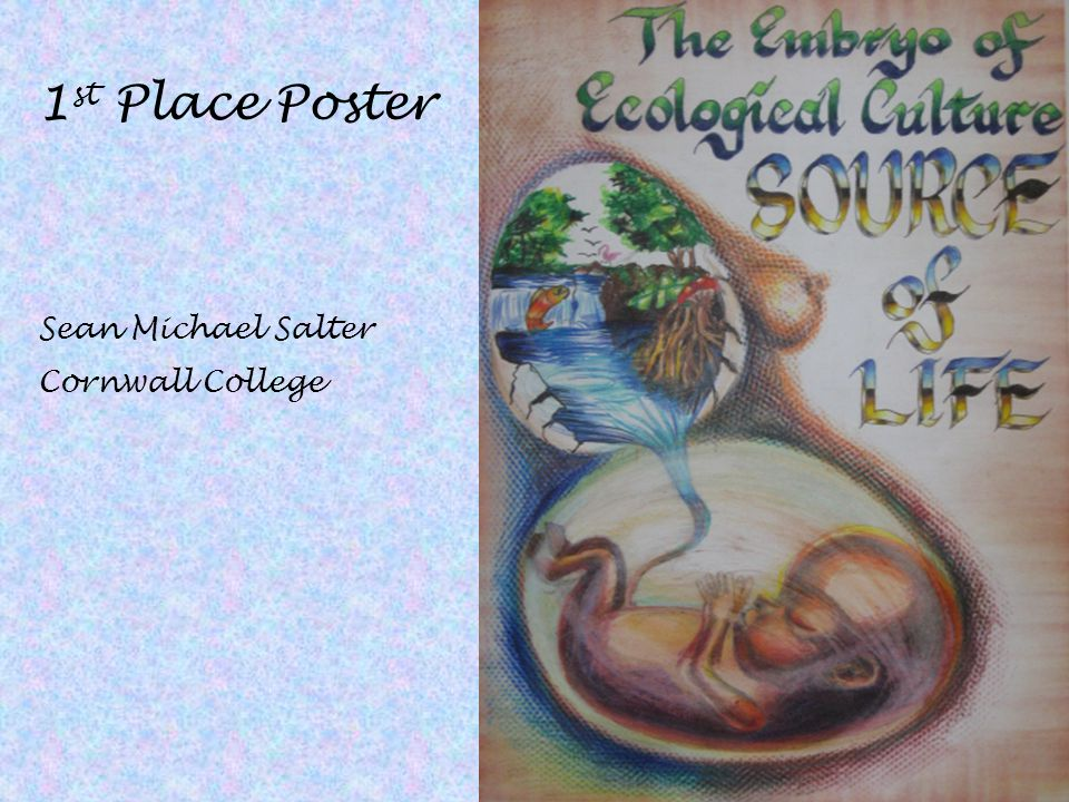 1st Place Poster Sean Michael Salter Cornwall College