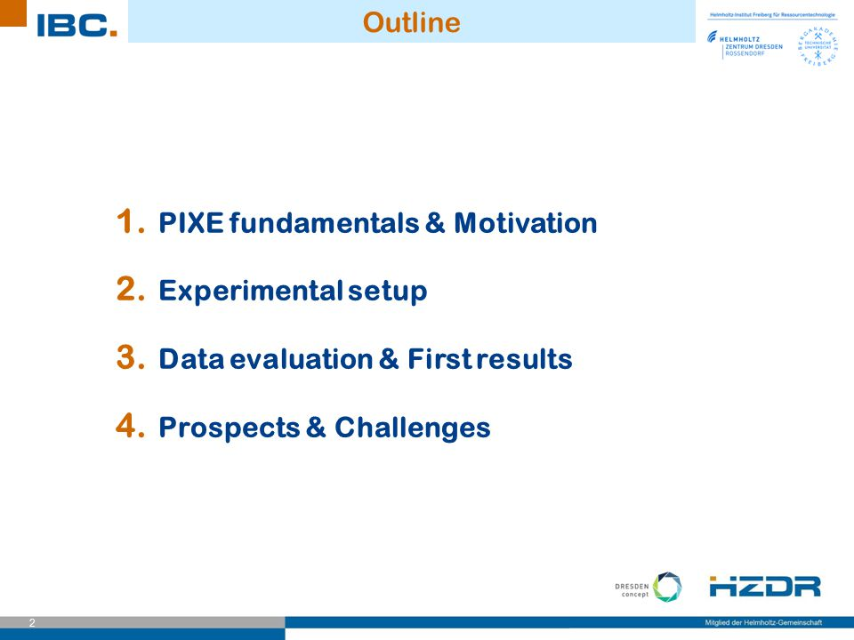 Outline PIXE fundamentals & Motivation. Experimental setup.