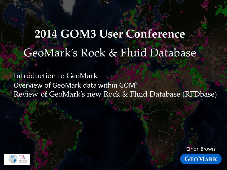 GeoMark's Rock & Fluid Database