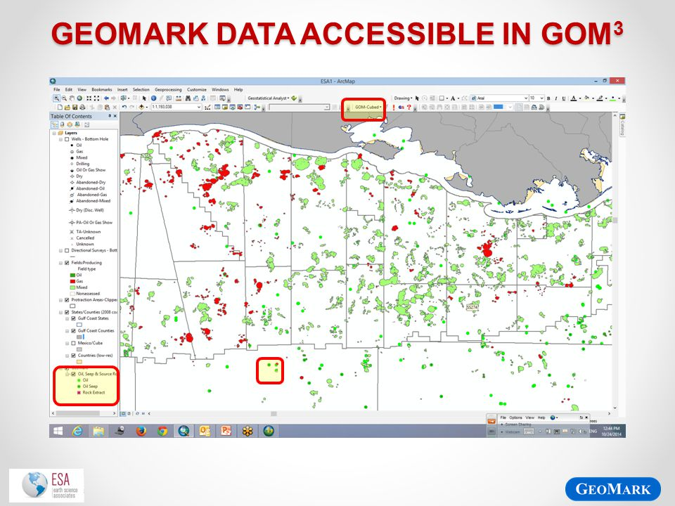 GeoMark Data accessible in gom3