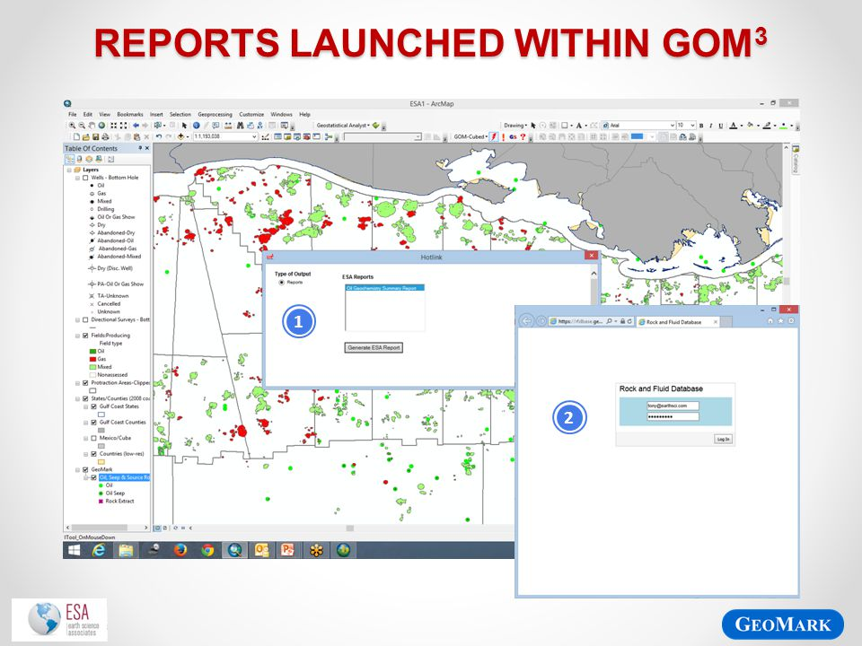 Reports launched within gom3