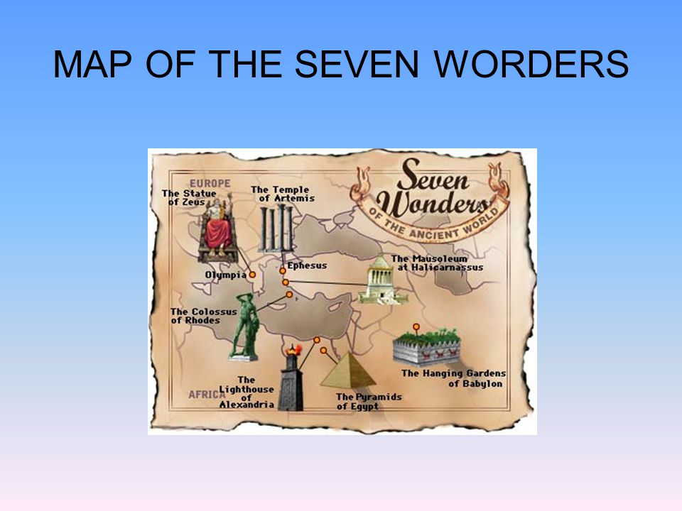 MAP OF THE SEVEN WORDERS