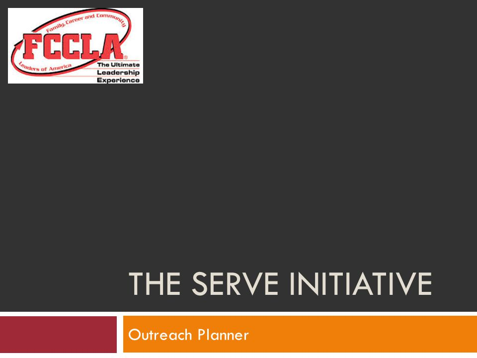 The SERVE Initiative Outreach Planner